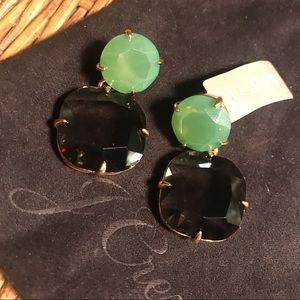 J. Crew two tone emerald green earrings